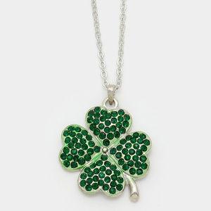 Jewelry - Crystal Shamrock Clover Pendant necklace